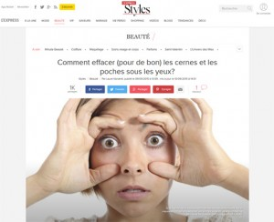 L'express - Septembre 2015 : Effacer les cernes et les poches sous les yeux